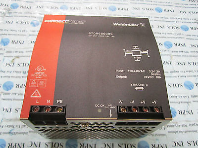 Connect Power Weidmuller 8708680000 24vdc Power Supply 250w 10a Fully Tested