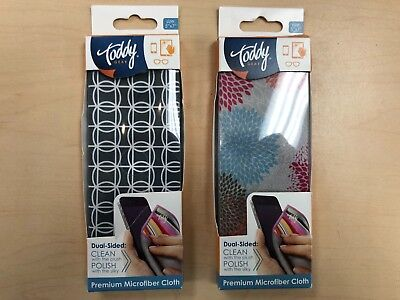 2X Toddy GEAR Premium Microfiber 5x7 Cloth for iPad & Touch Screen Cleaning