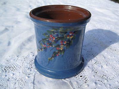 Devon/ Torquay ware Longpark  blue lidded pot 5 in to finial very pretty piece