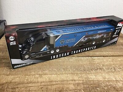 James Hinchcliffe INDYCAR TRANSPORTER GREENLIGHT 1:64 SCALE DIECAST METAL MODEL