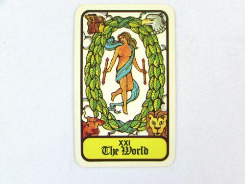 Vintage 1972 Hoi Polloi Tarot *Single Replacement Card* XXI The World