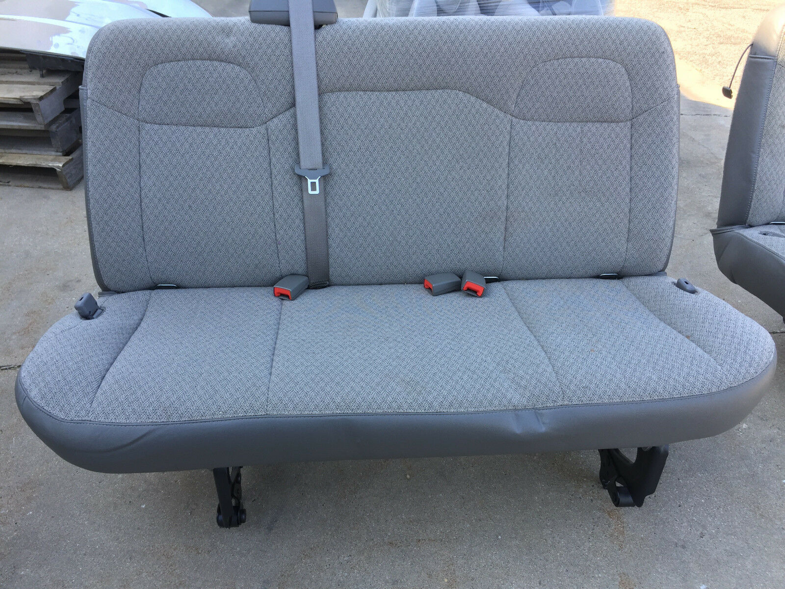 Chevy Bench Seat ~ Chevy express gmc savanna van gray cloth bench seat