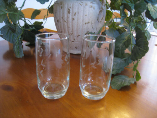 2 Princess House Heritage 11 oz Tumblers 5 Inch Glasses