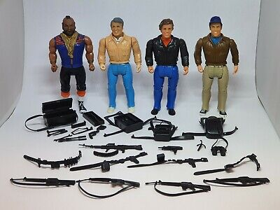 "Vintage The A-Team Figures Galoob 6"" Set Of 4 ALL COMPLETE"
