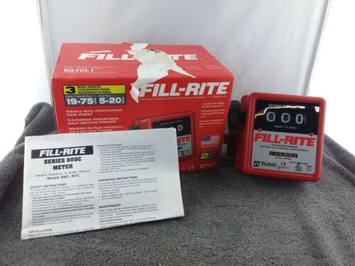 "FILL-RITE Heavy Duty Mechanical Flow Meter, 50 PSI Max, 1"" Inlet (807CL1) - Used"