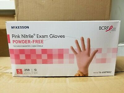 Mckesson Pink Nitrile Exam Glove Powder Free Size Small 250 Per Box 14-6npnk