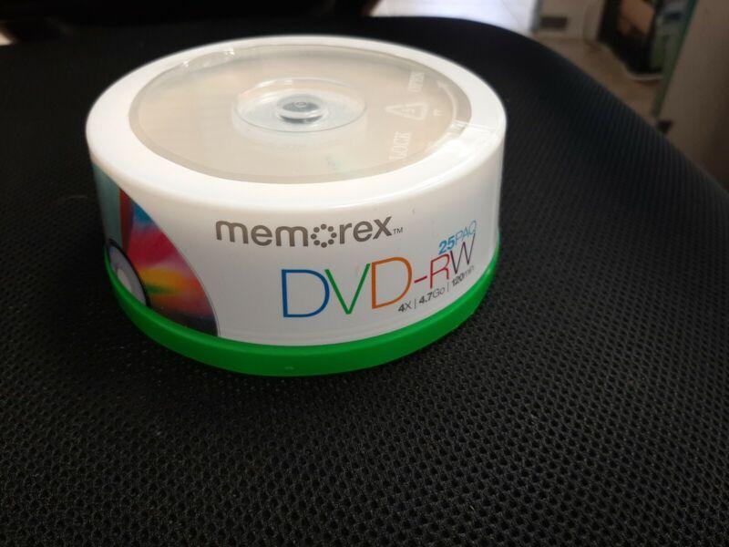 Memorex DVD-RW 25pk 4.7GB 120min