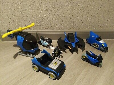 Lot Of Imaginext Batman DC Toys-Helicopter-Motorcycle-Car-Figure Etc.