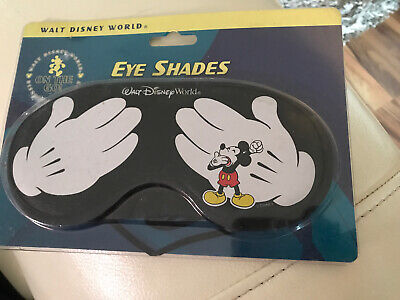 NEW Vintage Walt Disney Mickey Mouse Mask Sleep Cover Plush Comfy