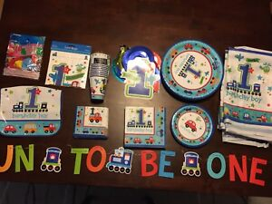 1st Birthday Party Supplies, for Boy