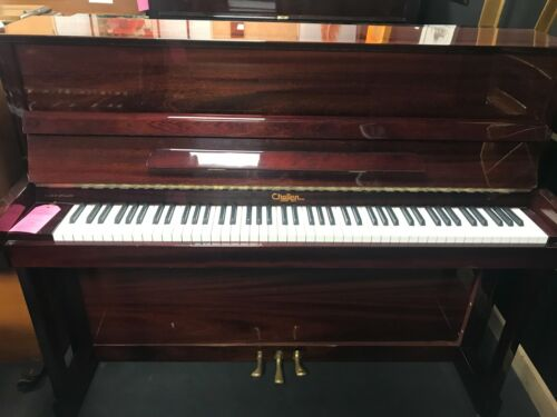 Challen 1804 Upright Piano-Mahogany Polyester-English-CAN DELIVER THIS PIANO