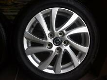 """MAZDA 3 16"""" ALLOYS AND TYRES IN AS NEW CONDITION - SET OF 4 Mount Gravatt Brisbane South East Preview"""