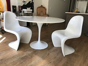 Tulip dining table and chairs Highett Bayside Area Preview