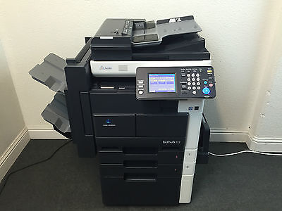 Konica Minolta Bizhub 222 Copier Printer Scanner Network Staple Finisher