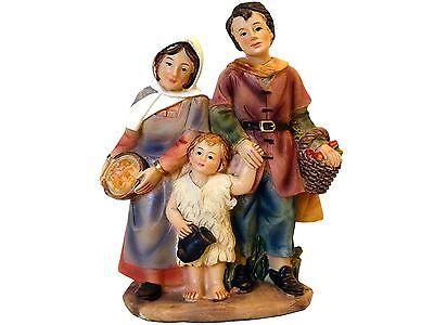 K183-63 Krippenfiguren Zusatzfigur Eltern mit Kind Polystone 11 cm