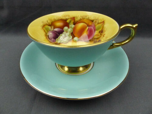 Aynsley Fine Bone China Orchard Fruit Teacup & Saucer