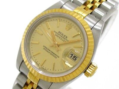 Auth ROLEX The Datejust 69173 Silver  Women
