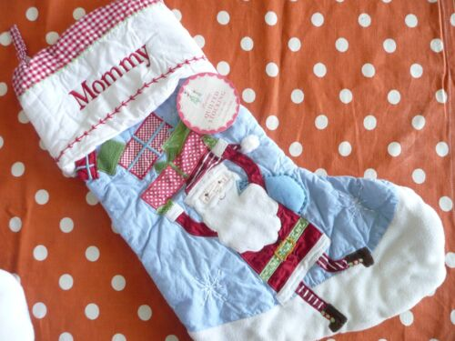 Pottery Barn Christmas Stocking Santa Mommy