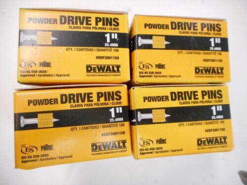 "NEW - QTY 400 DeWALT 1"" POWDER DRIVE PINS DDF3001150"