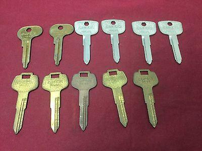 Honda Datsan Volkswagen By Curtis Automotive Key Blanks Set Of 11 -locksmith