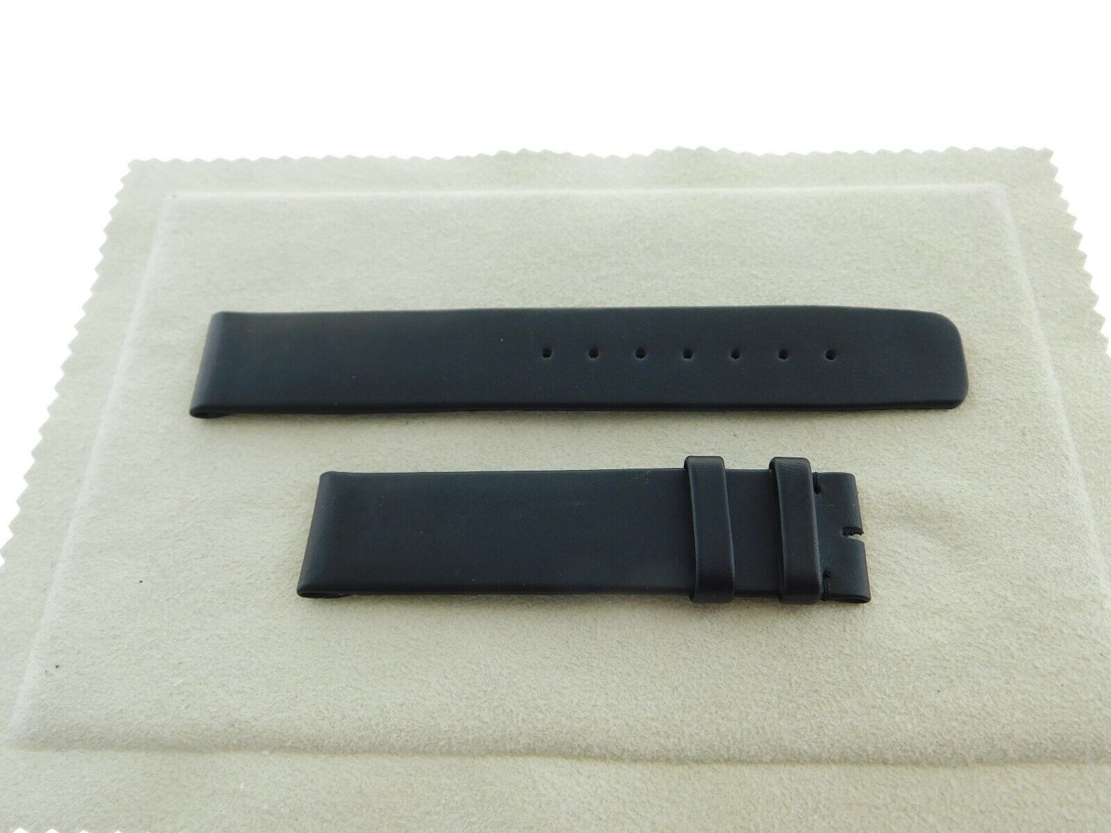 Neu Original IWC echt Leder Armband schwarz 18 - 18    NBM