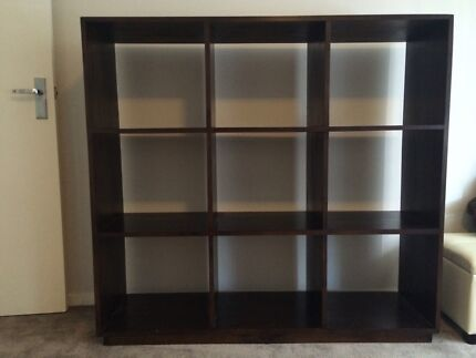 Wooden 3x3 pigeon hole book case Como South Perth Area Preview