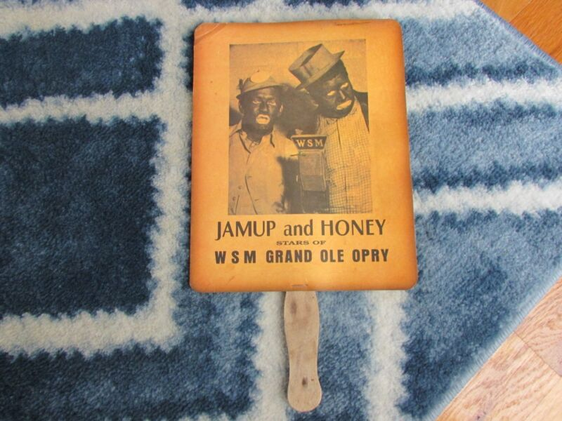 Vintage WSM Grand Ole Opry Jamup and Honey fan - Good cond., Reduced!