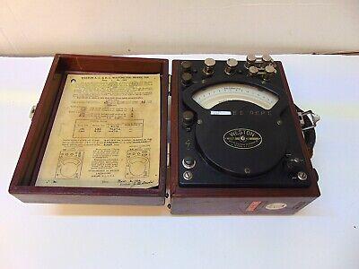 Weston Electrical Wattmeter Model 310 No. 158 In Wooden Box S5431