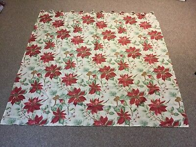 "Pine Cone Shower Curtain (Red Poinsettia & Pine Cone Shower Curtain 70""X)"