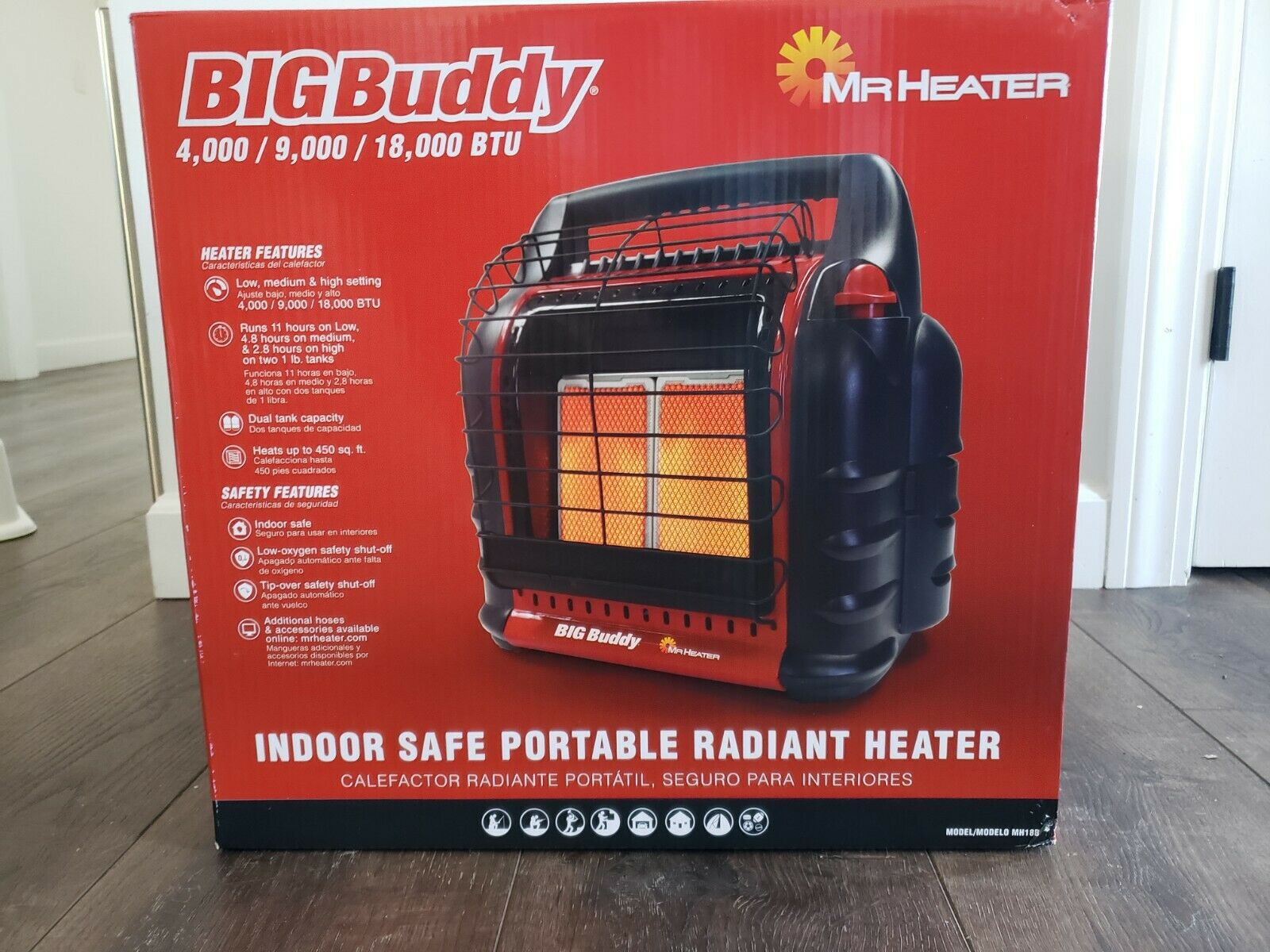 NEW IN BOX - Mr Heater Big Buddy Portable Propane Heater