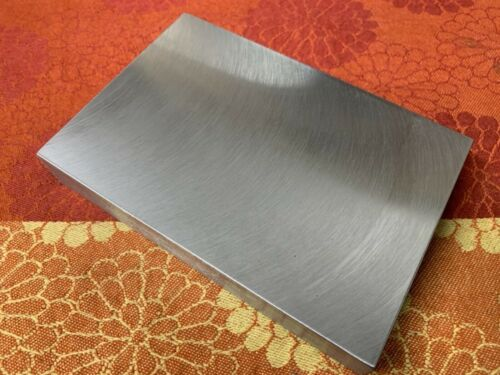 """1"""" Thick Blacksmith Hot Cut Plate, Bench Block 6"""" x 4"""" Milled Smooth Top A36"""