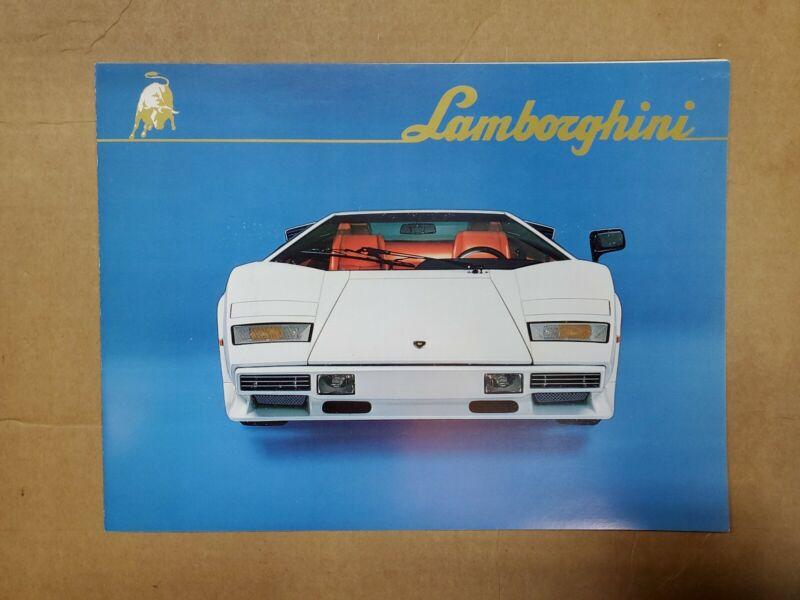 1982 Lamborghini Countach LP5000 quattrovalvole brochure