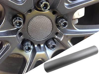 4x Alufelgen Felgen Naben Deckel Design Folie Carbon Grau für viele Fahrzeuge