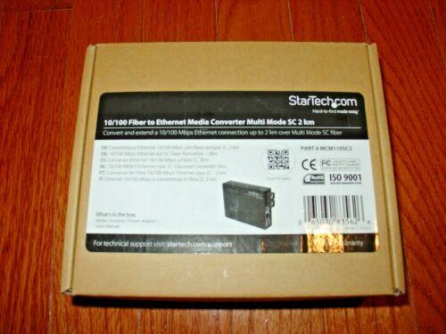 StarTech 10/100 Fiber to Ethernet Media Converter Multi-Mode SC 2 km MCM110SC2