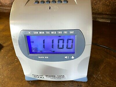 Pyramid 2600 Digital Time Punch Clock Payroll Time Recording W Cards Cartridge