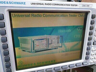Rohde Schwarz Cmu200 1100.0008.02 Universal Radio Communication Tester W Cmu-