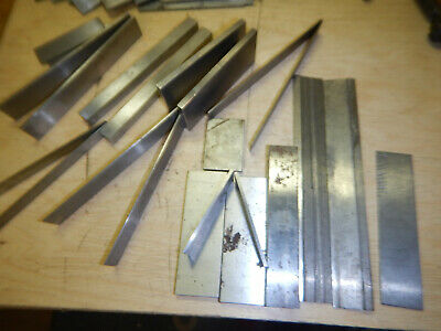 Lot Xk7 Pile Of Miscellaneous Machinist Parallels Gage Blocks Hold Downs