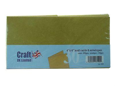 Craft UK 4x4 Kraft Cards and Envelopes  CUK2024 N