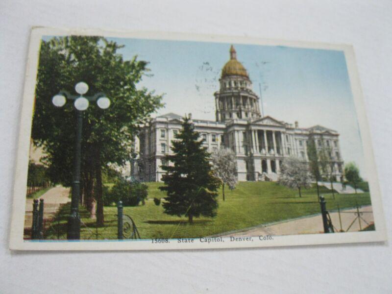 Vintage 1937 State Capitol Building Denver Colorado State  Picture Postcard