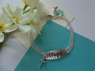 Ovarian Cancer Awareness Faith And Hope Bracelet