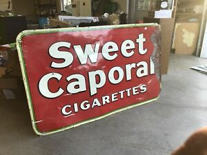 Sweet Caporal Cigarettes metal sign