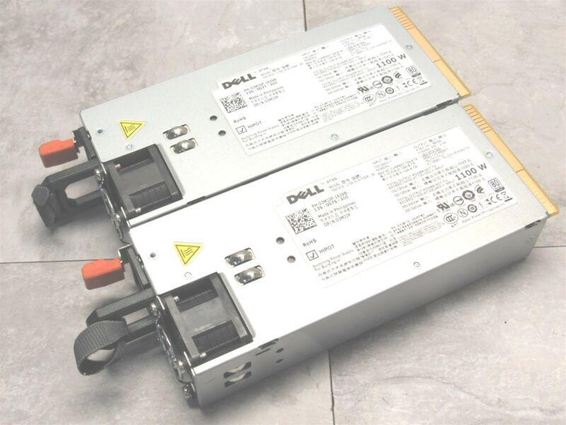 2 LOT - Dell PowerEdge R510 T710 R910 1100W 80+ Platinum Server Power Supply