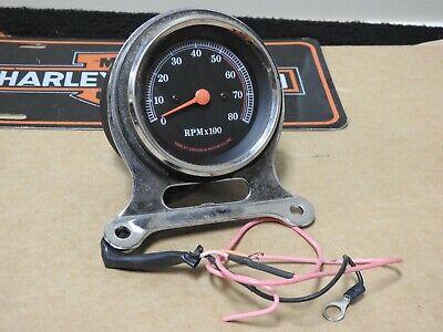 Harley Davidson FXR/ Dyna/ Sportster Tachometer & Chrome Mount