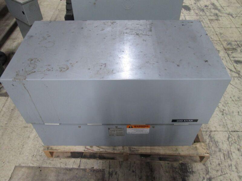 Cutler-Hammer Unipak Capacitor 23343HUDN 233 KVAR 480V 3Ph Used