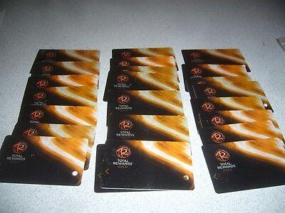 Vintage Las Vegas Nv Lot Of 20  Hotel Slot Cards Total Rewards Com