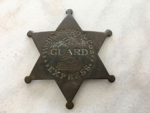 Wells Fargo & Co Express Agent Messenger Guard Officer Badge Star Look & Learn
