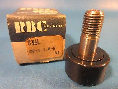 Rbc Bearings S36l Cam Follower Cf 1-18s Standard Stud Straight Sealed Fag