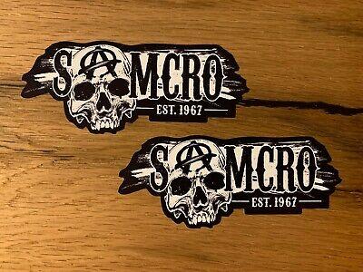 2x SOA Aufkleber Sons of Anarchy Samcro Rocker Biker Skull MC Oldschool...