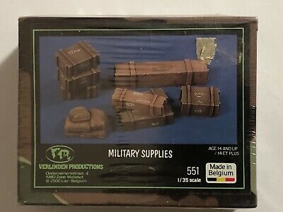VERLINDEN PRODUCTIONS Belgium 1/35 Military Supplies Model 551 SEALED