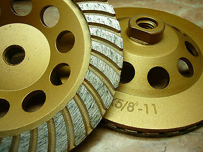 6 Inch 150mm 58 Arbor Thk Diamond Turbo Sintered Segment Grinding Cup Wheel U
